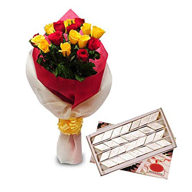 Roses N Kaju Katli EXDFNP104: Puthandu Gifts