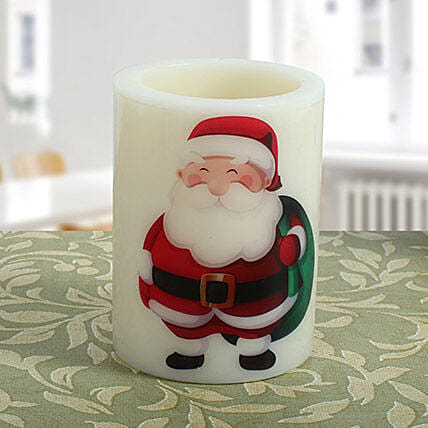 Santa Hollow Candle: Christmas Gifts For Boyfriend India
