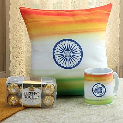Sense Of Patriotism Combo: Buy Cushions