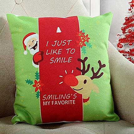 Smiling Santa Christmas Cushion: Christmas Gifts For Boyfriend India
