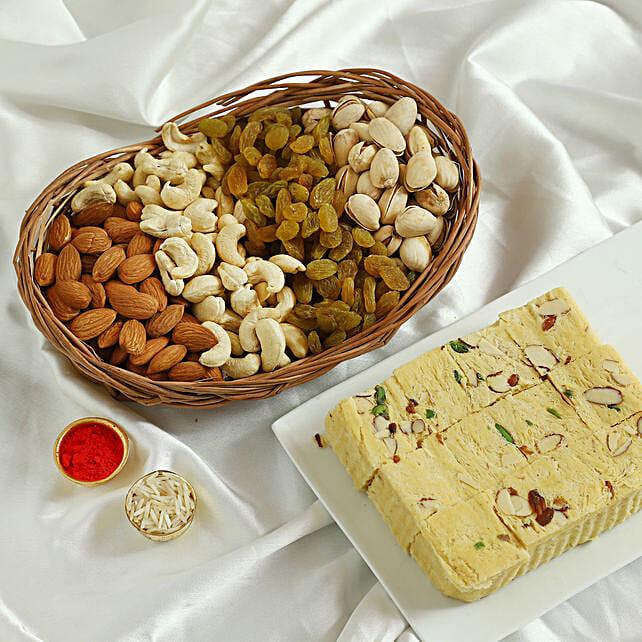Soan Papdi N Dry Fruits Hamper: Sweets to Delhi