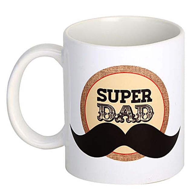Super Dad Coffee Mug: Send Fathers Day Gifts to Gurgaon