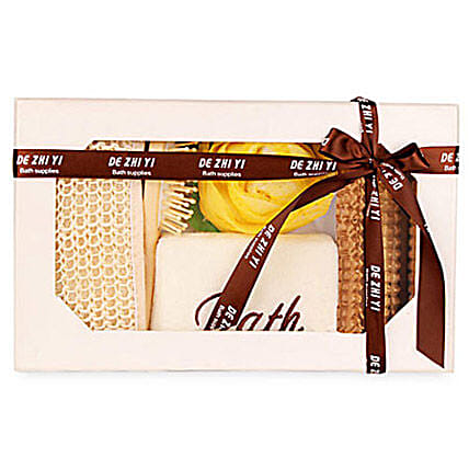 White Body Spa Kit: Rakhi Hampers