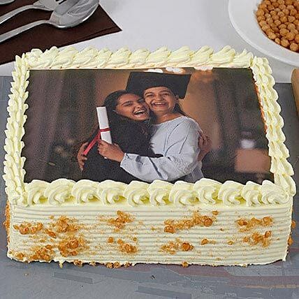 Yummy Butterscotch Photo Cake For Mom: Send Photo Cakes