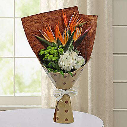 Bird Of Paradise Special Bunch: Send Chrysanthemums