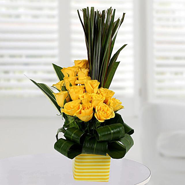 Enchanting Yellow Rose Arrangement:
