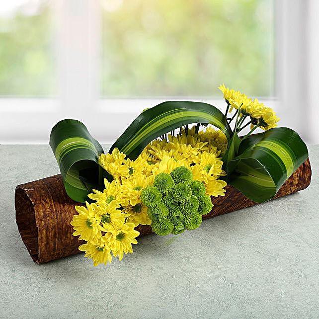 Lovely Yellow Daisy Arrangement: Send Chrysanthemums