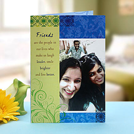 Personalized greeting card: Friendship Day Gifts to Kolkata