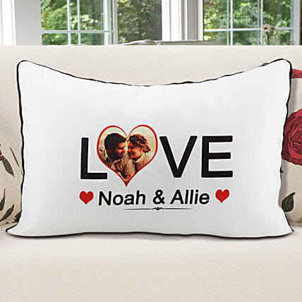 Personalized Pillow Cover White: Valentine Custom Gifts for Boyfriend