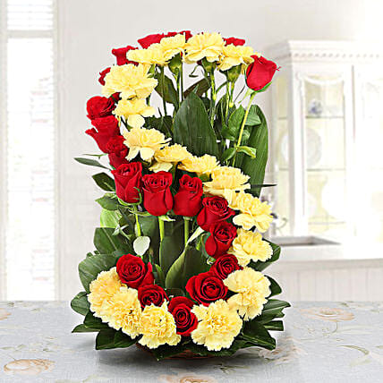 Personalised Floral Arrangement: Personalised Gifts Ambernath