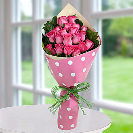 Pink Roses Bunch Of Happiness: Diwali Gifts for Wife