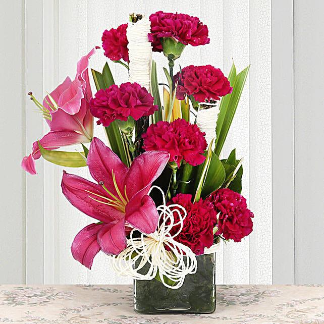 Serene Carnation: Vase Arrangements