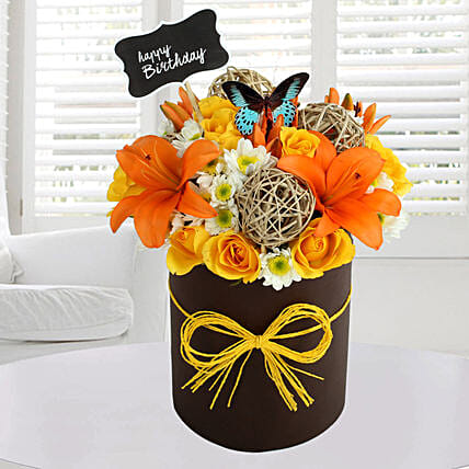 Sunny Floral Arrangement: Exotic Flowers