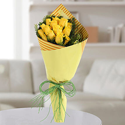 Yellow Roses Bunch: Gift For Boss