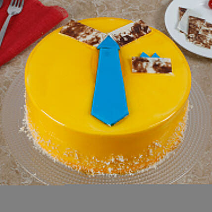 Funky And Delicious Mango Cake For Dad: Designer Cakes