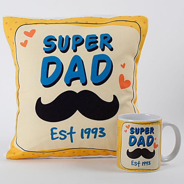 Super Dad Mug And Cushion Combo: