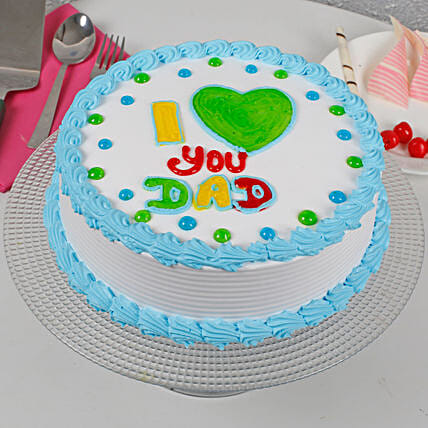 I Love You Dad Cream Cake: Designer Cakes for Fathers Day
