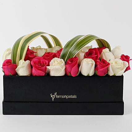 Graceful Roses Box Arrangement: Exotic Rose Arrangements
