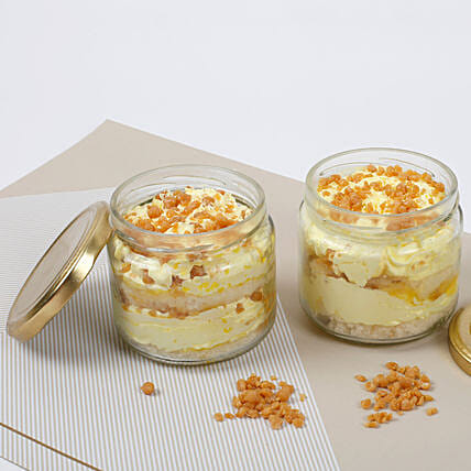 Set of 2 Crunchy Butterscotch Jar Cake: Jar Cakes