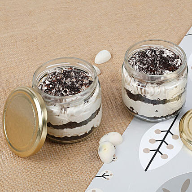 Set of 2 Trendy Tiramisu Jar Cake: Eggless Cakes to Chennai