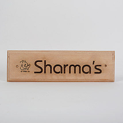 Engraved Wooden Name Plate- 1: