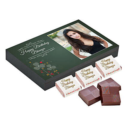 Personalised Birthday Chocolate Box- Green: Personalised Chocolates