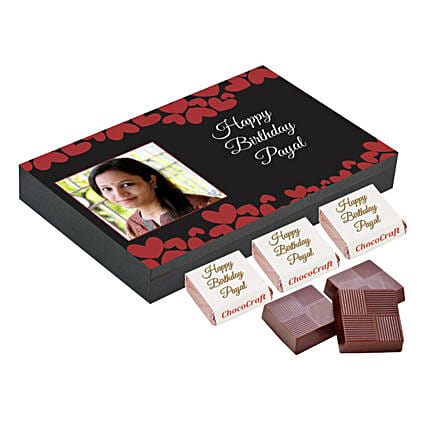 Personalised Birthday Decorated Chocolate Box: Personalised Chocolates