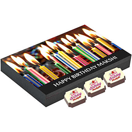 Personalised Birthday Gift Box- 12 Chocolates: Personalised Chocolates
