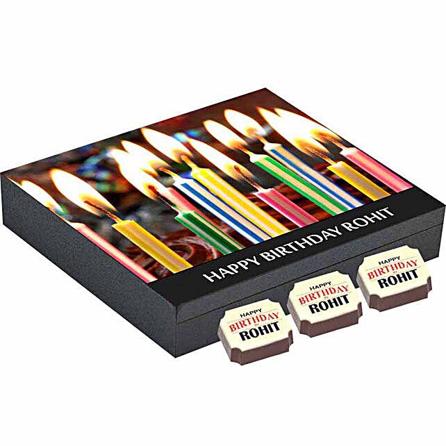 Birthday Gift- 9 Personalised Chocolate Box: Personalized Chocolate Gifts