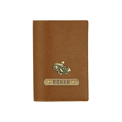 Leather Finish Passport Cover Tan: Personalised Accessories