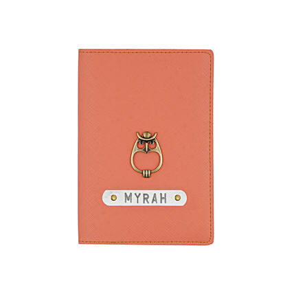 Textured Passport Cover Peach: