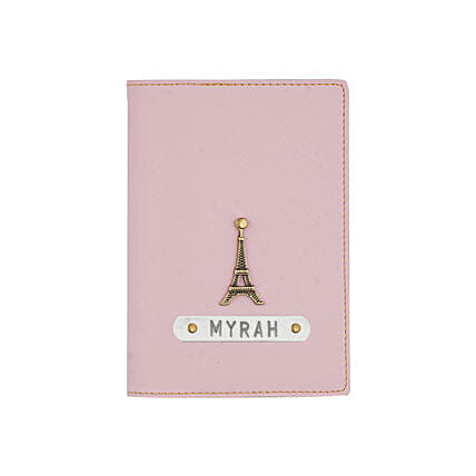 Textured Passport Cover Baby Pink: Fashion Accessories