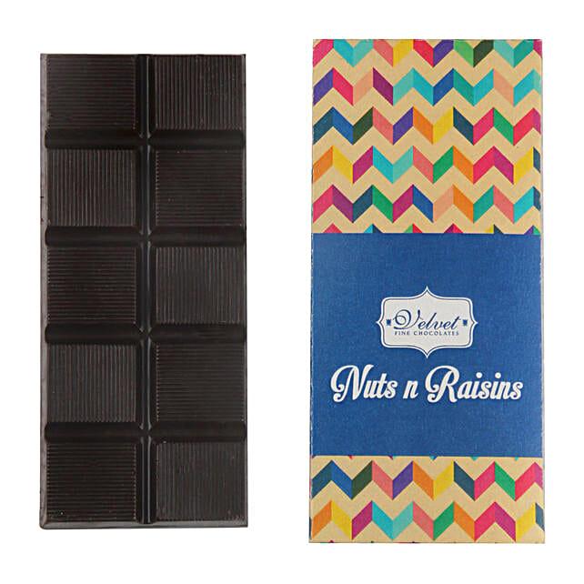 Nuts And Raisins Dark Chocolate Bar: Send Gifts for Dhanteras