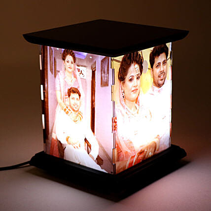 Wooden Personalized LED Lamp: Personalised Gifts for Couples