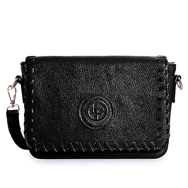 Lino Perros Sling Bag Black: Sling Bags for Women