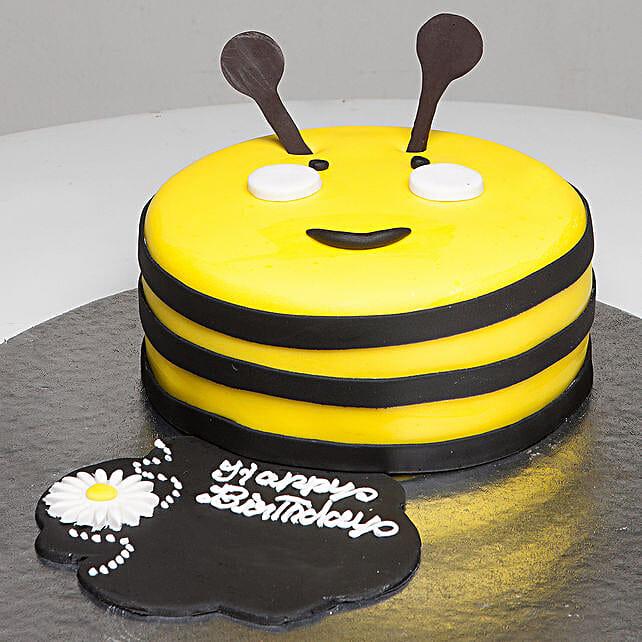 Bumblebee Birthday Cake: Send Mango Cakes to Bhopal