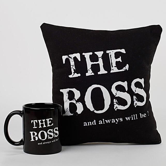The Boss Cushion & Mug Combo: