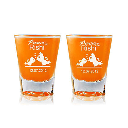 Personalised Set Of 2 Shot Glasses 2314: Personalised Shot Glasses