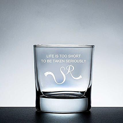 Personalised Set Of 2 Whiskey Glasses 1061: Bar Accessories For Dad