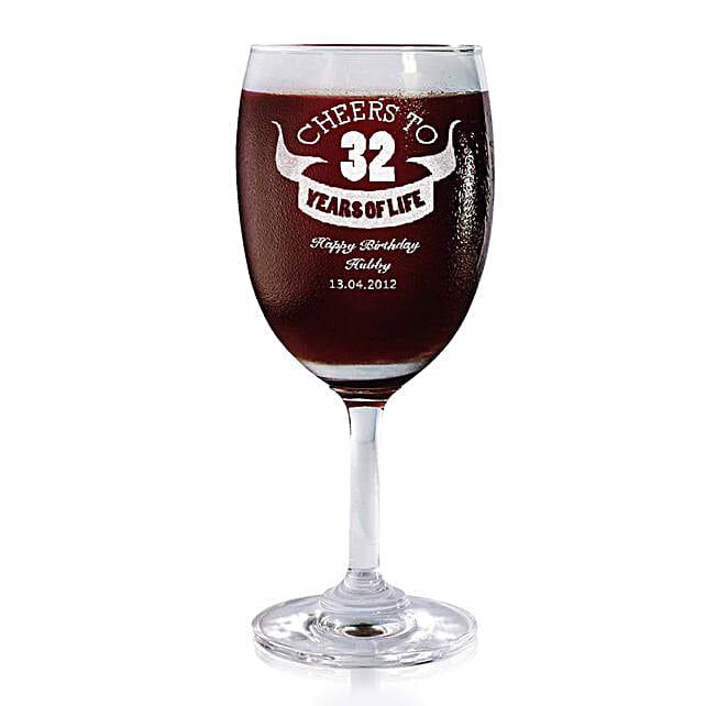 Personalised Set Of 2 Wine Glasses 2167: Personalised Wine glasses
