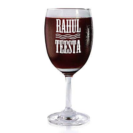 Personalised Set Of 2 Wine Glasses 2168: Bar Accessories