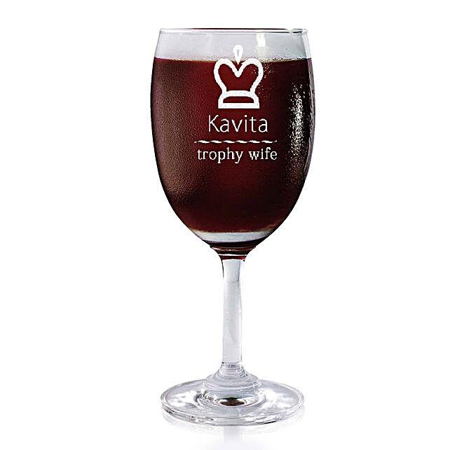 Personalised Set Of 2 Wine Glasses 2177: Personalised Wine glasses