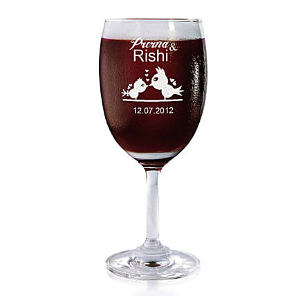 Personalised Set Of 2 Wine Glasses 2189: Bar Accessories