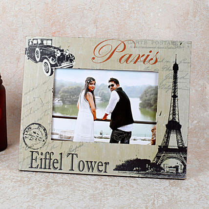 Paris Eiffel Tower Photo Frame: Personalised Photo Frames for Anniversary