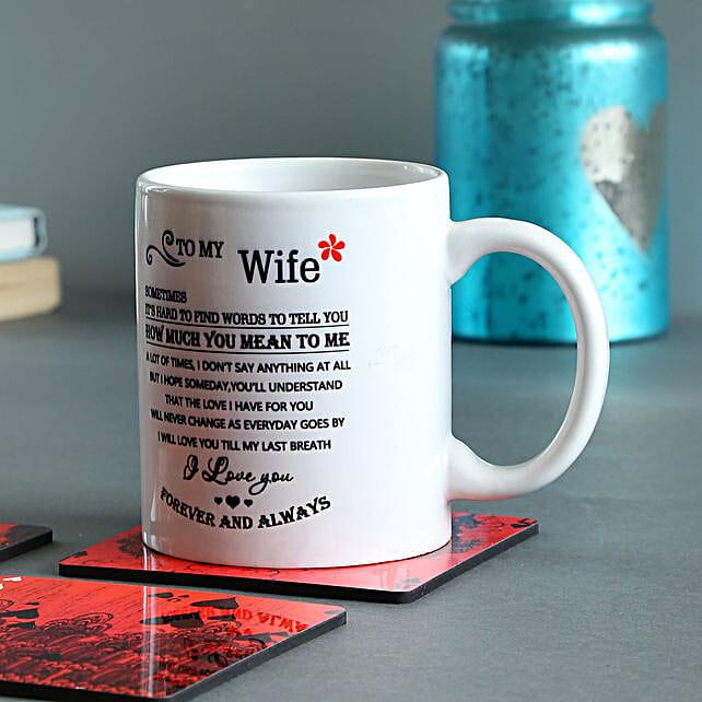 Forever & Always Printed Mug: Coffee Mugs