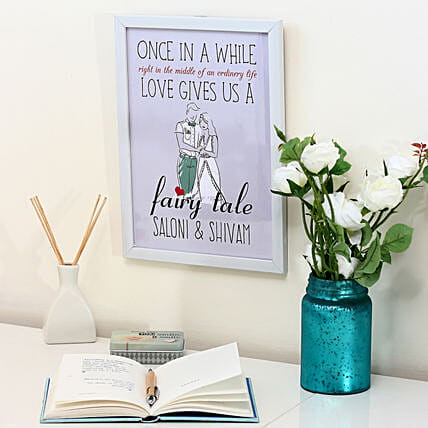 Personalised Fairy Tale White Frame: Send Miss You Gifts