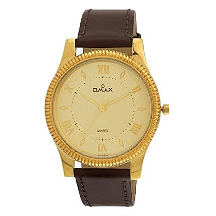 Omax White Dial Mens Watch: Accessories