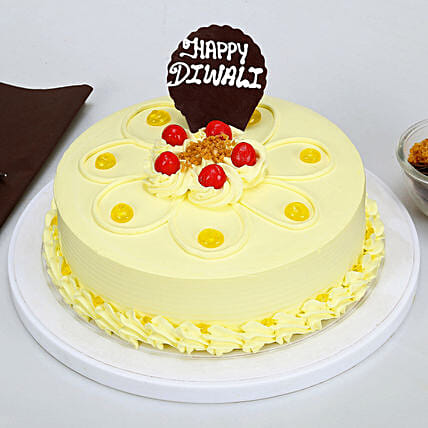 Happy Diwali Butterscotch Cake: Gifts to Shahjahanpur
