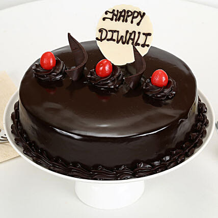 Happy Diwali Truffle Cake: Gifts to Vizianagaram