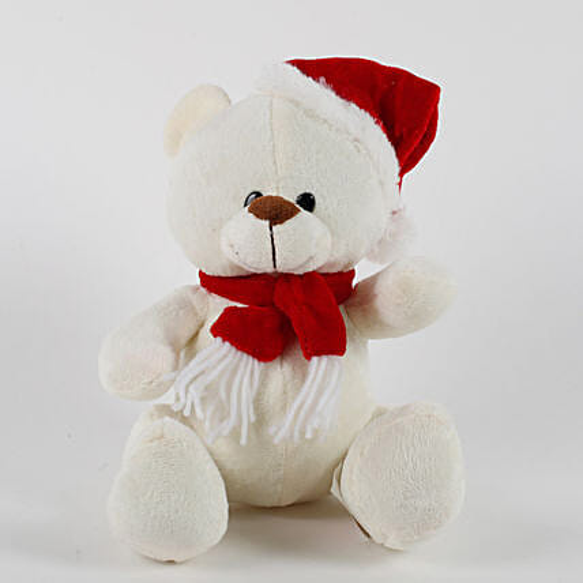 Adorable Santa Teddy Bear: Soft Toys for Christmas